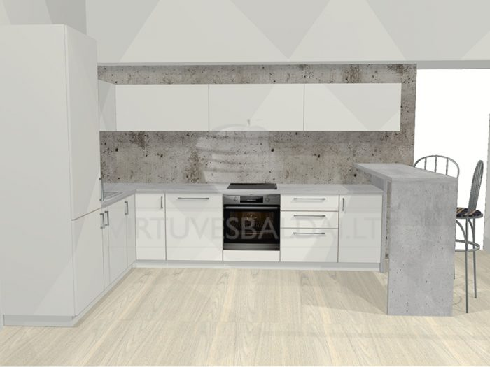 akcija virtuvės baldai projektas
