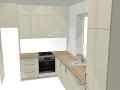 Kreminės spalvos virtuvė 2