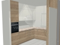 Virtuvės baldų projektas Rūta 1